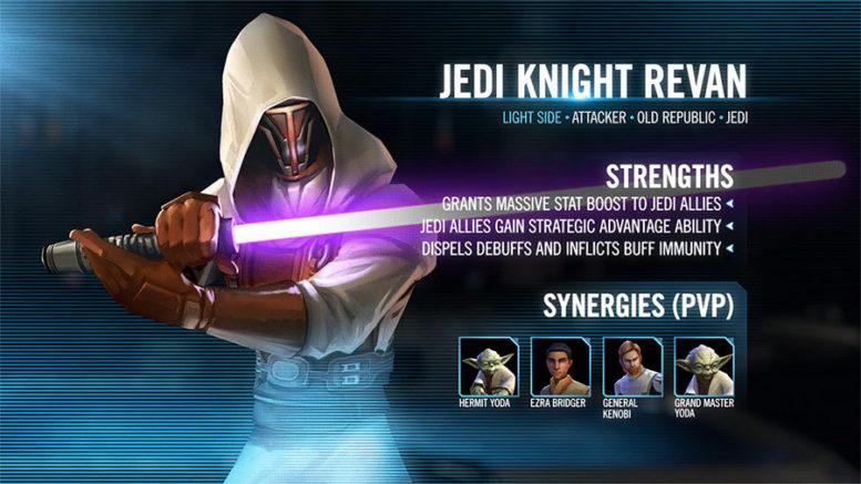 SWGoH Jedi Knight Revan