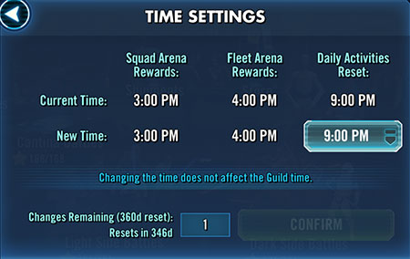 SWGoH Payout Change