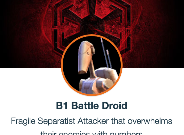B1 Battle Droid - SWGoH
