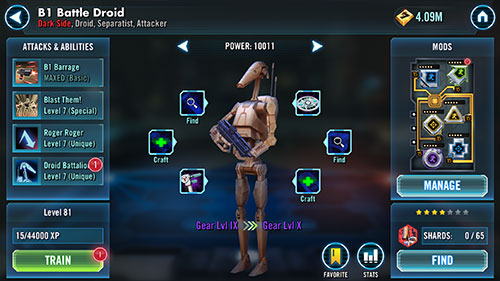 SWGoH - B1 Battle Droid