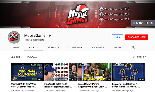 MSF Mobile Gamer / OhEmGee YouTube