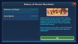 SWGoH - Padme Amidala announcement