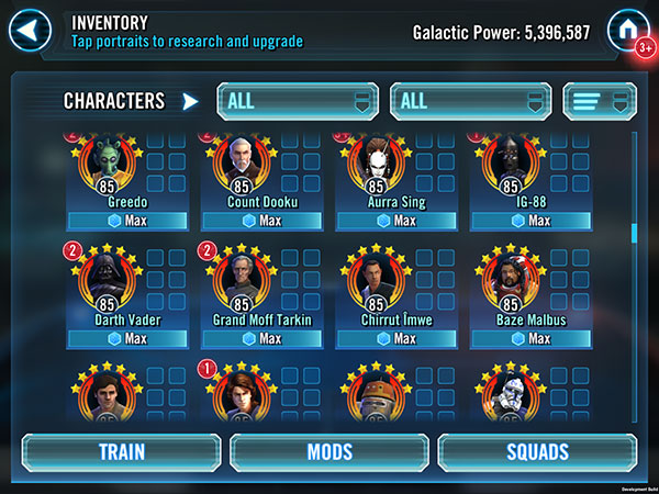 SWGoH - Gear 12 Finishers