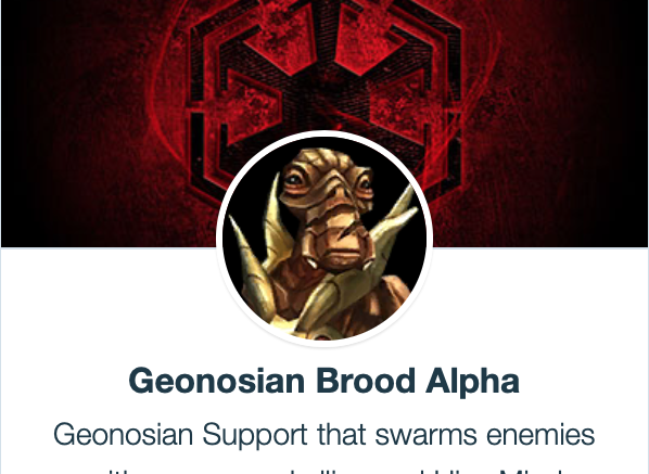 SWGoH - Geonosian Brood Alpha