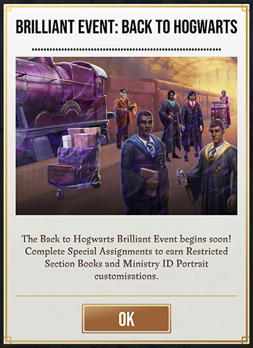 HPWU - Back To Hogwarts Brilliant Event