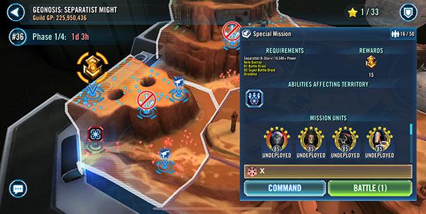 SWGoH - Geonosis Territory Battles