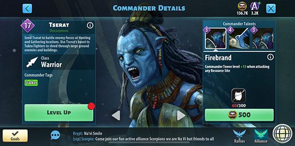 Tserat - Avatar Pandora Rising