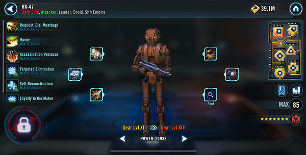 SWGoH - HK-47