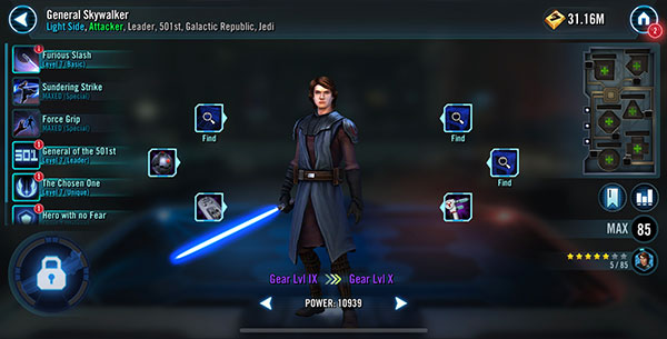 SWGoH - General Anakin Skywalker
