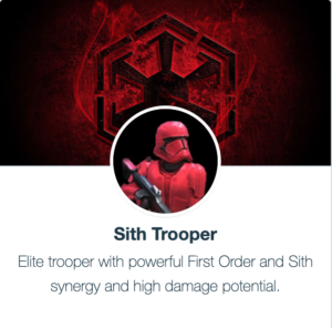 SWGoH - Red Sith Trooper
