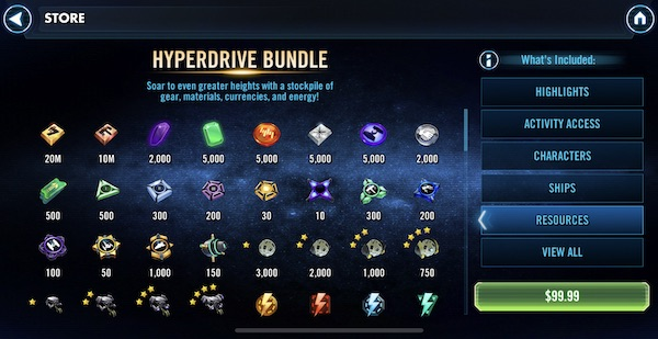 SWGoH - Hyperdrive Bundle