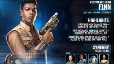 SWGoH - Resistance Hero Finn