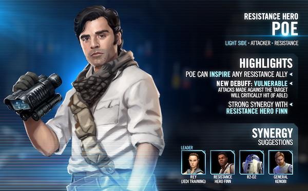 SWGoH - Resistance Hero Poe