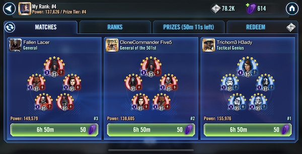 SWGoH Squad Arena w / General Skywalker