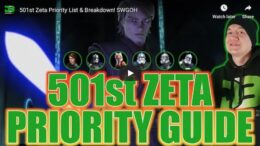 SWGoH - Lista e Zeta 501