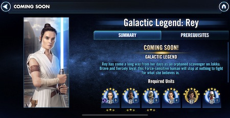 Requisitos Galactic Legend Rey