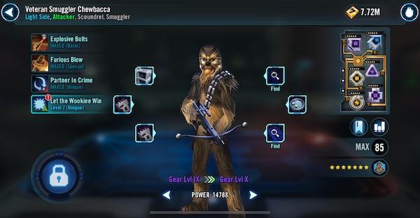 SWGoH - Veteran Smuggler Chewbacca