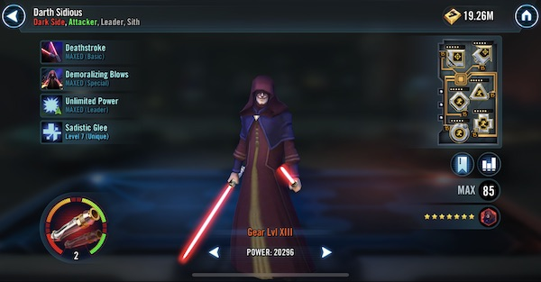 SWGoH - Darth Sidious