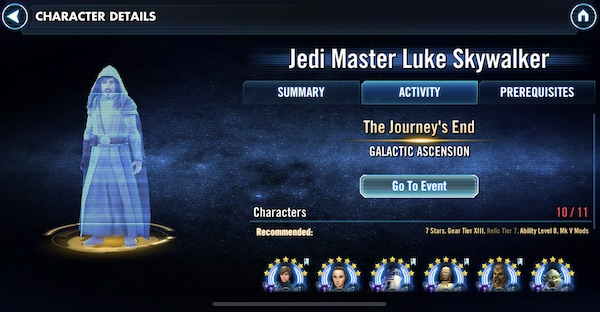 Jedi Master Luke Skywalker