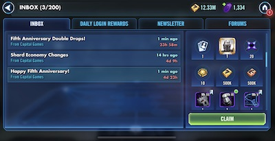 SWGoH 5 Years