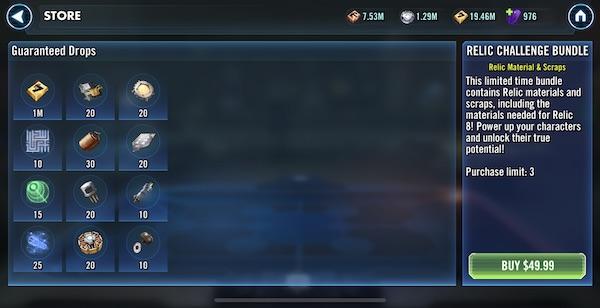 SWGoH Relic Challenge Bundle
