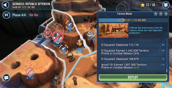 SWGoH - Territorieslag - Jedi