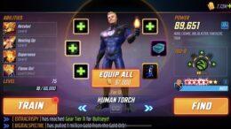 Obor Manusia - Kekuatan Serangan Marvel