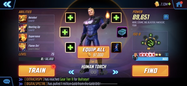 Human Torch - Marvel Strike Force