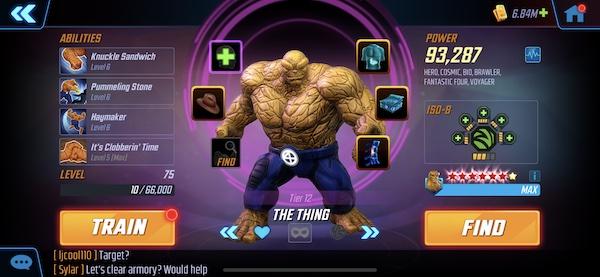 Věc - Marvel Strike Force