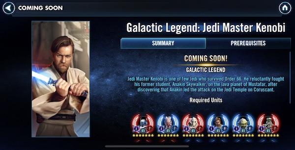 SWGoH - Legenda Galaksi Kenobi